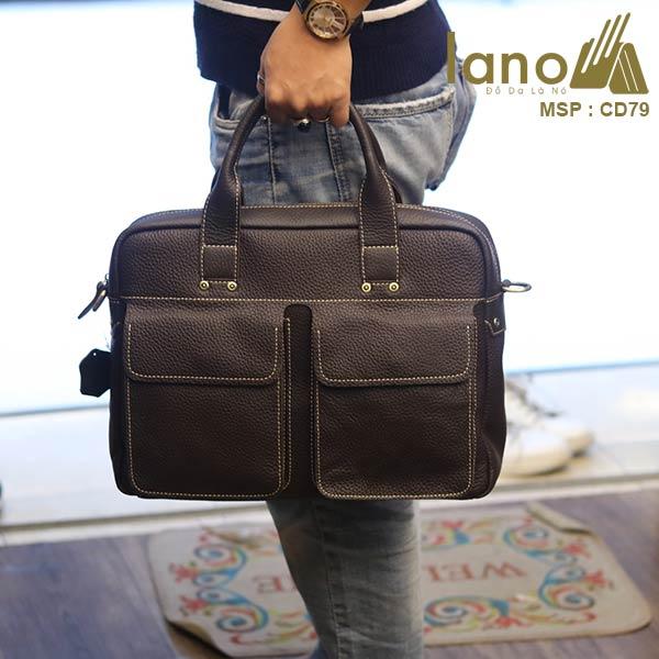 Cặp da công sở cao cấp thời trang Lano tiện lợi CD79 - xách tay