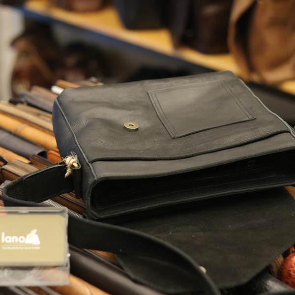 Túi da bò thời trang Lano cao cấp mới nhất 2018 KT116 - bên trong