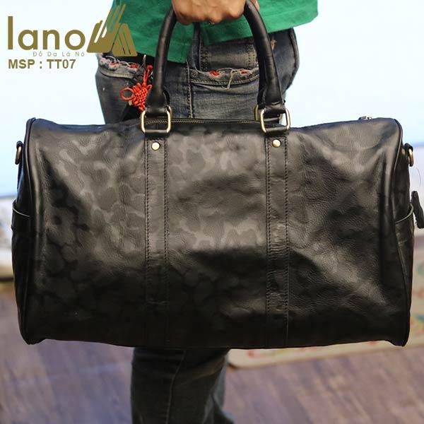 Túi trống da bò Lano du lịch trẻ trung TT07 - xách tay