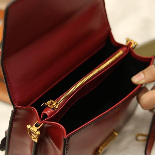Túi Xách nữ Hàn Quốc dáng đẹp da bò thật Lano TXN008 - ngăn trong