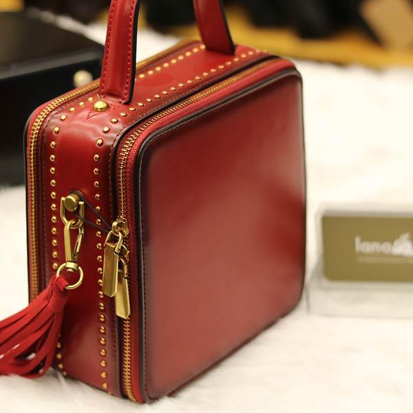 Túi xách nữ hàng hiệu da thật Lano TXN001 - khóa