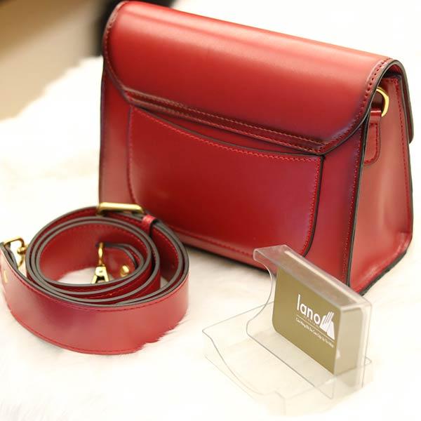 Túi đeo chéo nữ Lano hàng hiệu nhỏ gọn phong cách mới TXN011 - mặt sau