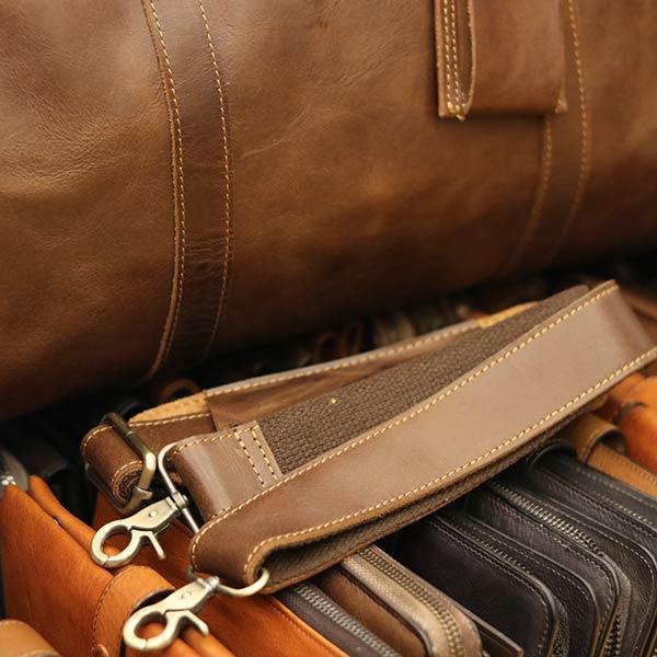 Túi du lịch nam da bò Lano TT09 - dây đeo chéo