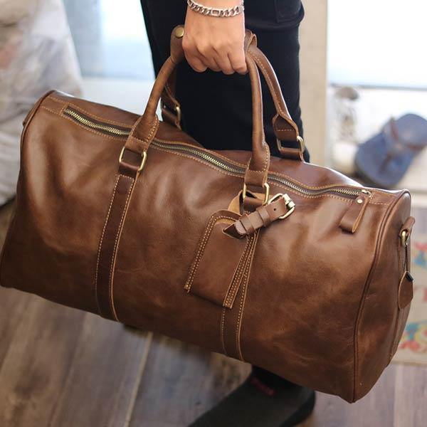 Túi du lịch nam da bò Lano TT09 - xách tay