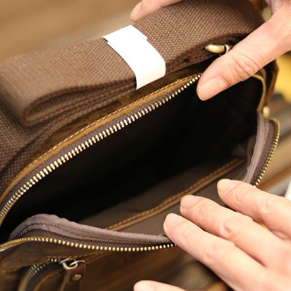 Túi da nam Lano cao cấp đựng iPad có tay xách Contact19 bên trong