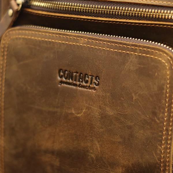 Túi da nam Lano cao cấp đựng iPad có tay xách Contact19 logo sắc nét