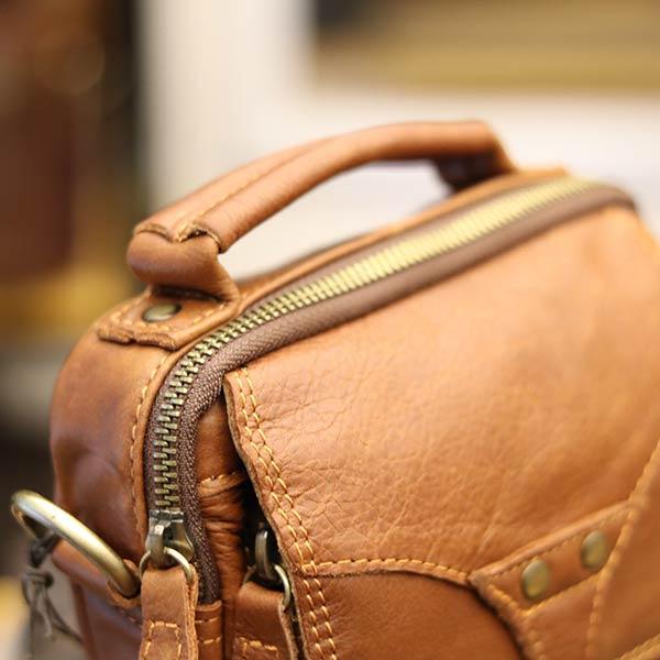 Túi đeo chéo nam mini da bò Lano KT118 quai xách tay