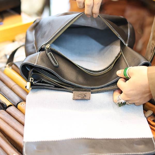 Balo da bò Lano thời trang phong cách mới BLN21 - ngăn trong