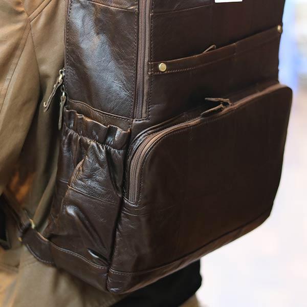 Balo da bò thời trang cao cấp đựng Laptop 16 inch cực sang trọng BLN16