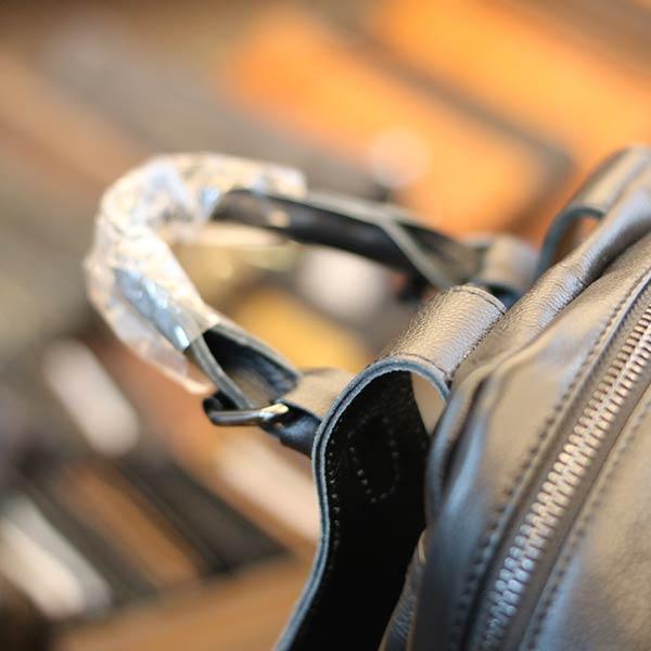 Balo mini Lano thời trang làm từ da bò thật BLN18 - tay xách