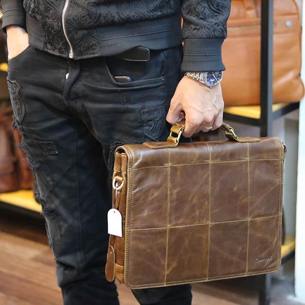 Cặp da nam Lano thời trang công sở CD88 kiểu dáng xách tay