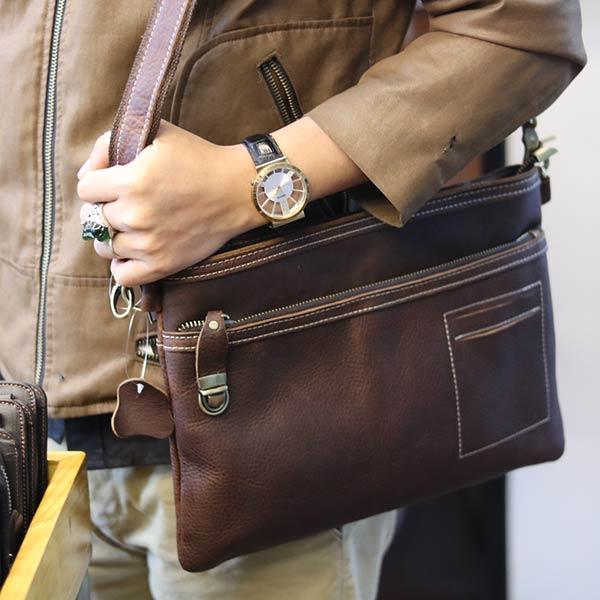 Túi cầm tay nam da bò đẳng cấp cho phái mạnh CLT15 - đeo chéo