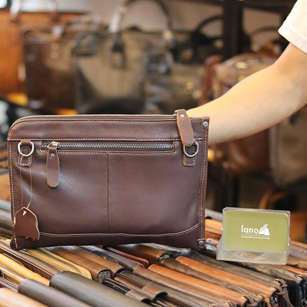 Túi cầm tay nam da bò mẫu mới 2019 CLT14 mặt sau