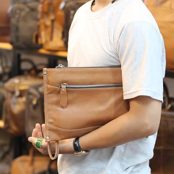 Túi cầm tay nam da bò mẫu mới 2019 CLT14 cầm tay