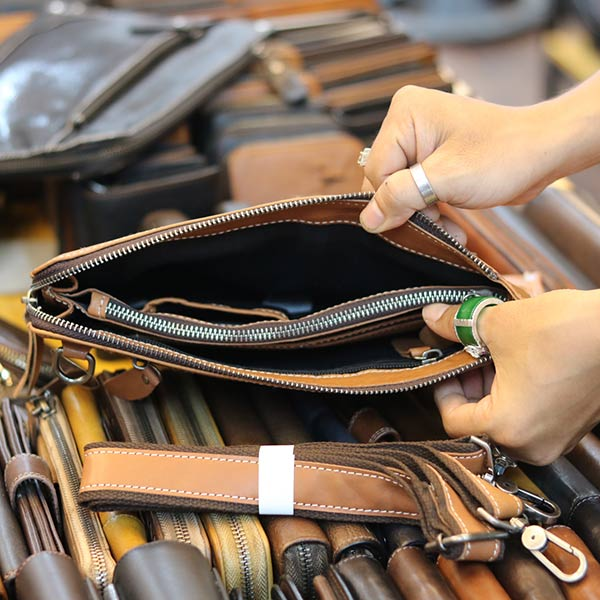 Túi cầm tay nam da bò mẫu mới 2019 CLT14 ngăn trong