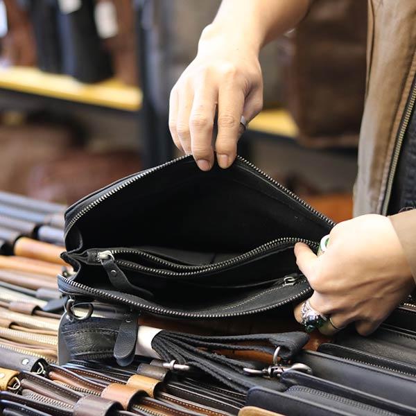 Túi cầm tay nam da bò mẫu mới 2019 CLT14 - ngăn trong