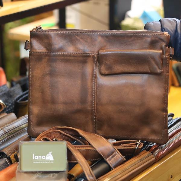 Túi cầm tay nam da bò thời trang mới nhất 2019 Lano CLT16