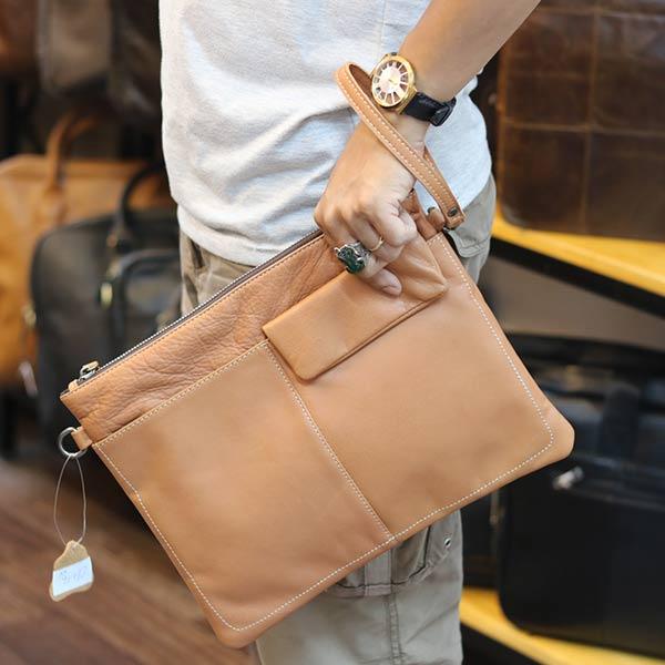 Túi cầm tay nam da bò thời trang mới nhất 2019 Lano CLT16 cầm tay