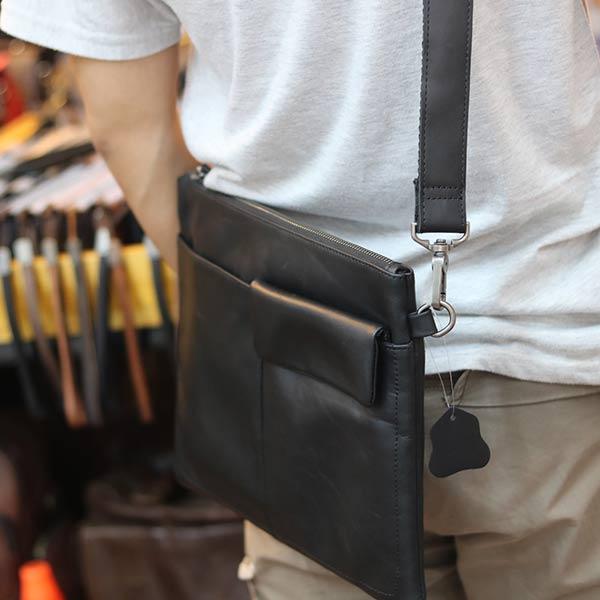 Túi cầm tay nam da bò thời trang mới nhất 2019 Lano CLT16 đeo chéo