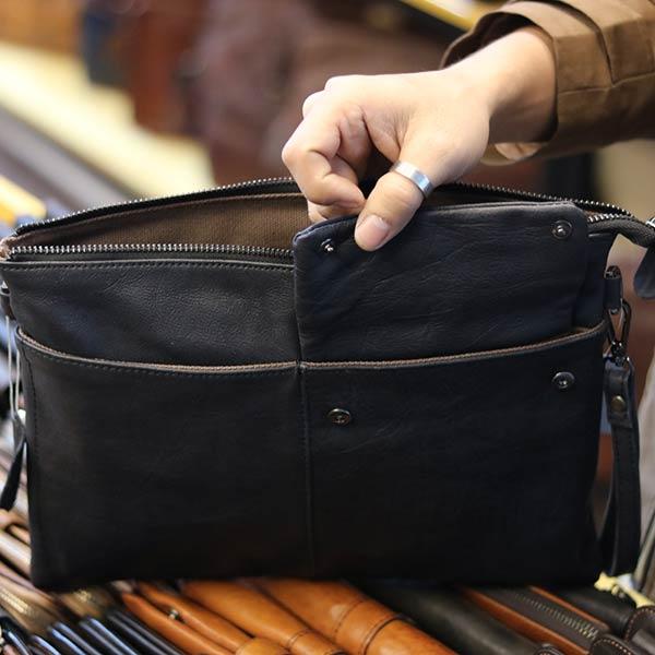 Túi cầm tay nam da bò thời trang mới nhất 2019