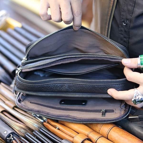 Túi cầm tay nam thời trang đẳng cấp phái mạnh CLT11 - ngăn trong