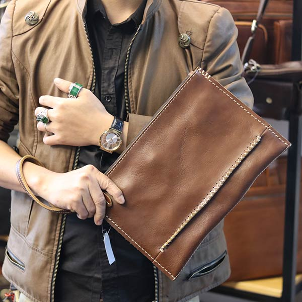 Túi da nam cầm tay Lano đơn giản tiện dụng CLT13 - cầm tay