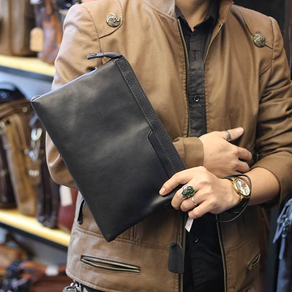 Túi da nam cầm tay thời trang mới 2019 CLT010 cầm tay
