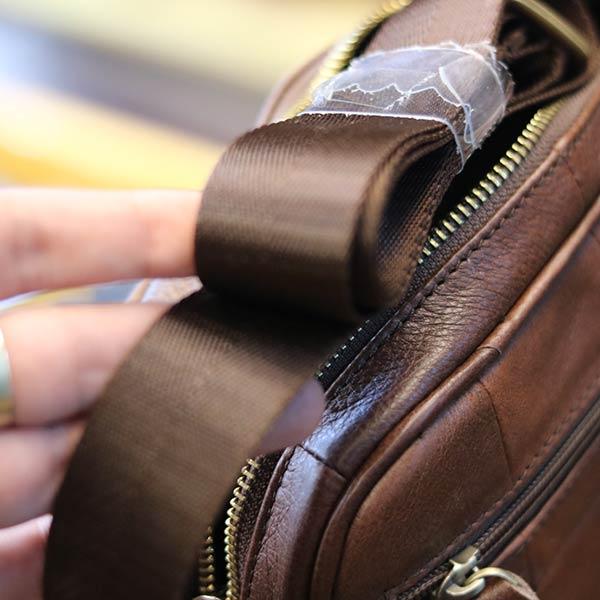 Túi da nam công sở gọn gàng tinh tế KT130 dây đeo chéo