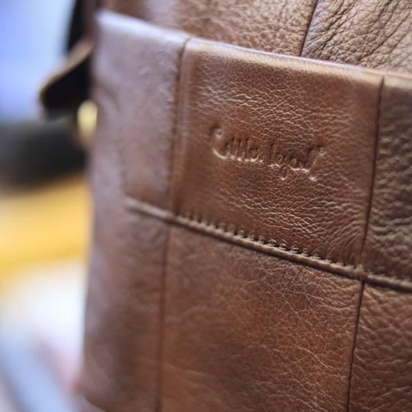 Túi da nam công sở gọn gàng tinh tế KT130 logo sắc nét