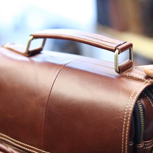 Túi da nam đeo chéo đựng iPad 2 ngăn khóa có tay xách KT135 quai xách tay