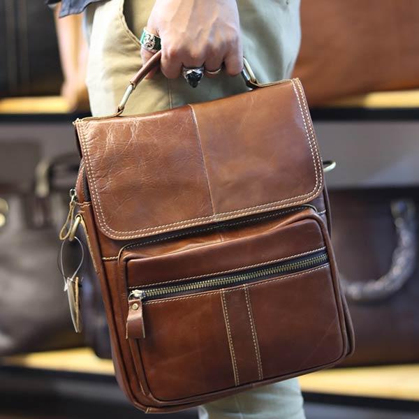 Túi da nam đeo chéo đựng iPad 2 ngăn khóa có tay xách KT135 xách tay