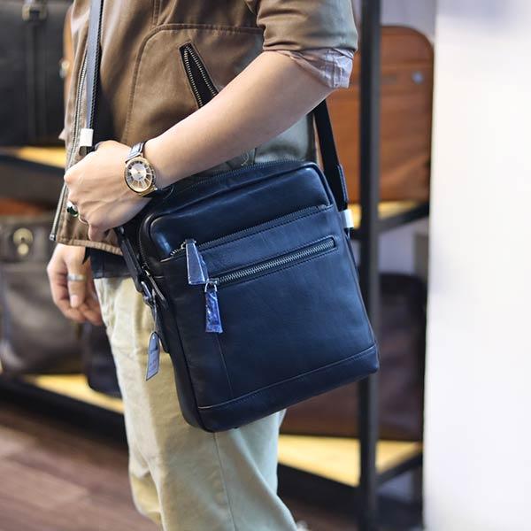 Túi da nam đeo chéo Lano thời trang cao cấp KT122 đeo chéo ngang hông