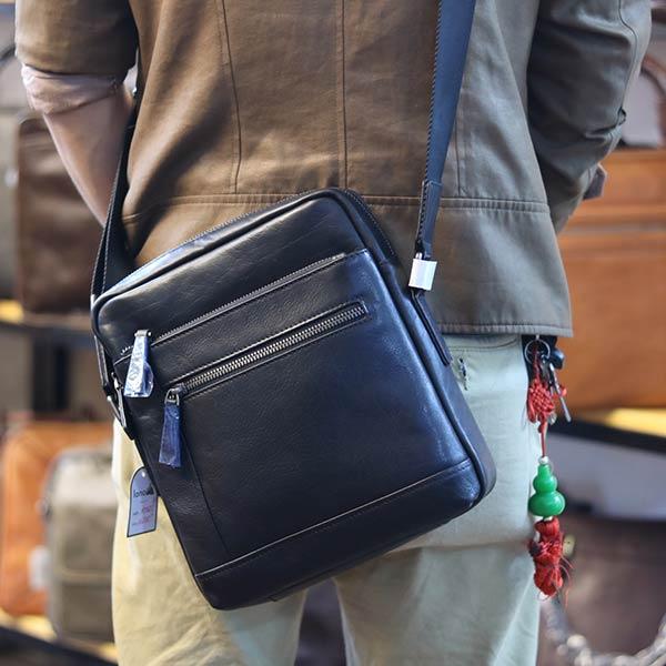 Túi da nam đeo chéo Lano thời trang cao cấp KT122 đeo chéo sau lưng