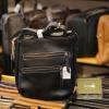 Túi da nam đeo chéo Lano thời trang đọc lạ KT120 màu đen