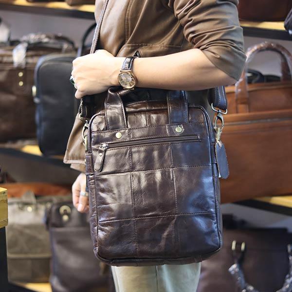Túi da nam đeo chéo xách tay sang trọng KT129 đeo chéo ngang hông