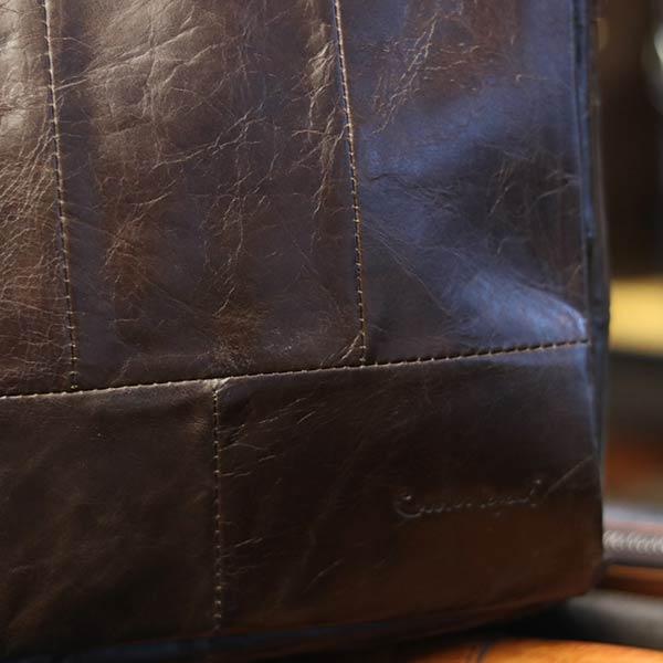 Túi da nam đeo chéo xách tay sang trọng KT129 logo sắc nét
