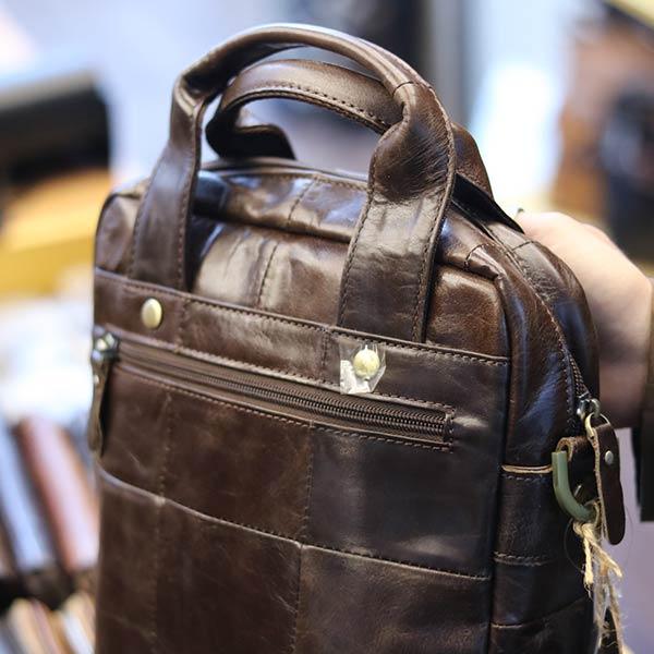 Túi da nam đeo chéo xách tay sang trọng KT129 quai xách tay thời trang
