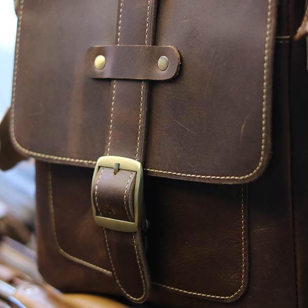 Túi đeo chéo nam da bò thật thời trang đẳng cấp 2019 KT133 khóa trước cách điệu