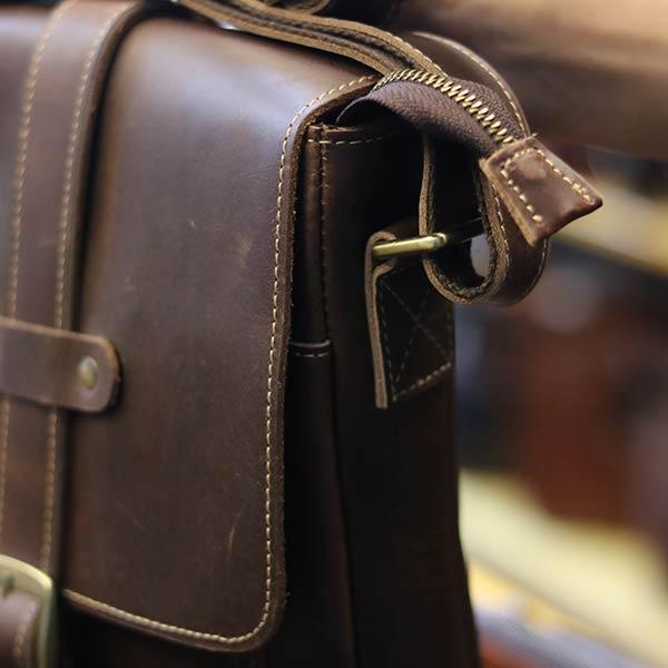 Túi đeo chéo nam da bò thật thời trang đẳng cấp 2019 KT133 dây đeo chéo chắc chắn