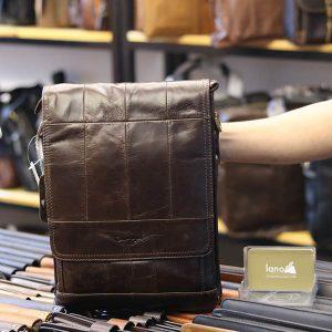 Túi đeo chéo nam đựng iPad da bò 2 ngăn đựng KT126