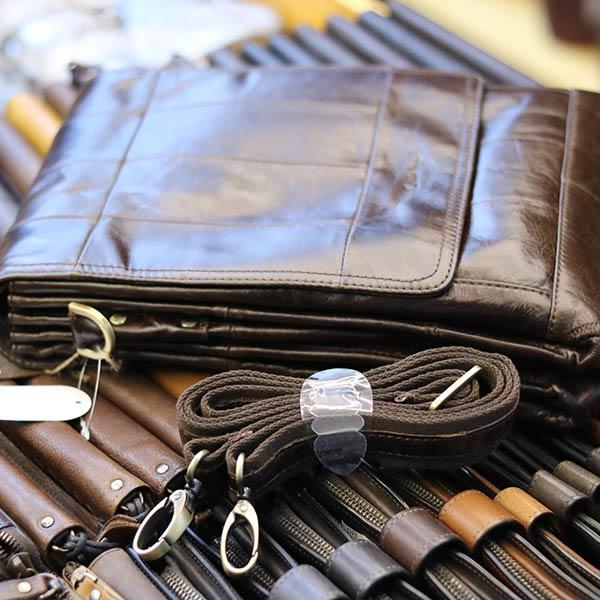 Túi đeo chéo nam đựng iPad da bò 2 ngăn đựng KT126 dây đeo chéo