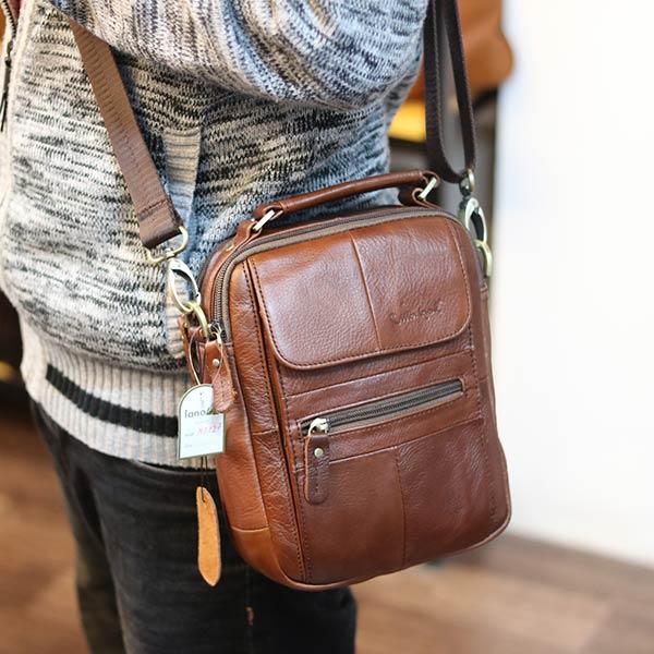Túi đeo chéo nam nhỏ gọn có quai xách tay KT127 đeo chéo hông