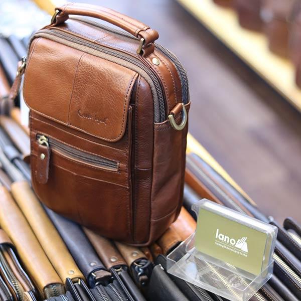 Túi đeo chéo nam nhỏ gọn có quai xách tay KT127 góc nghiêng