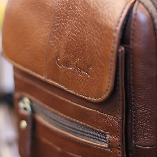 Túi đeo chéo nam nhỏ gọn có quai xách tay KT127 logo sắc nét