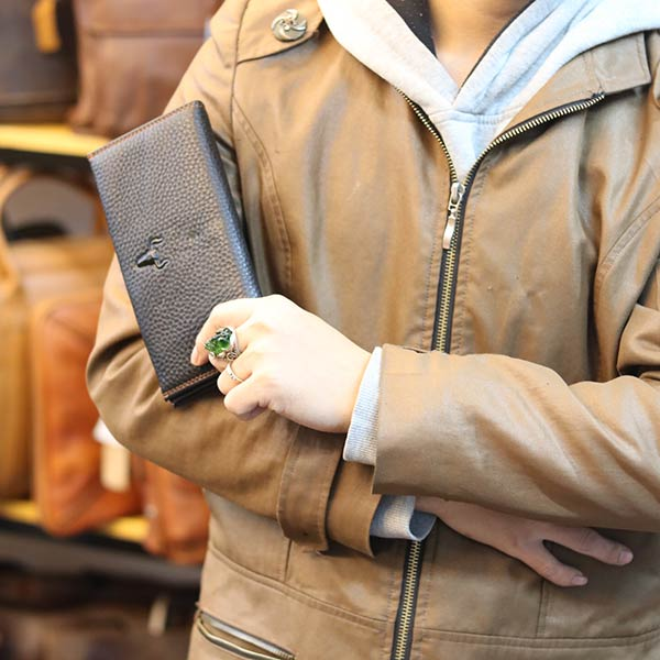 Ví da nam cầm tay Lano mẫu mới 2019 thời trang sang trọng VCTN065 kiểu dáng cầm tay