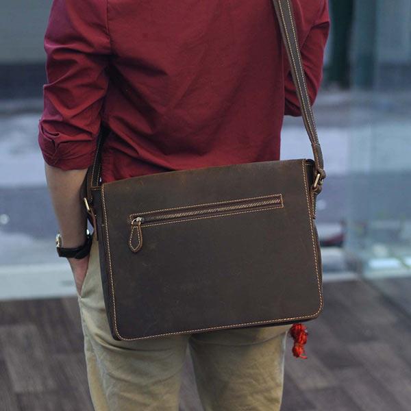 Cặp túi da nam đeo chéo đựng Macbook Laptop 13 inch CD92