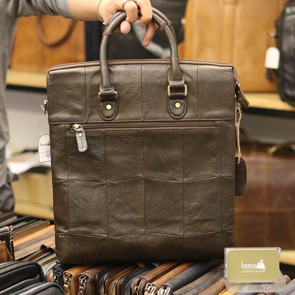 Túi da nam công sở đựng A4 tài liệu thời trang cao cấp Lano KT138 - mặt sau