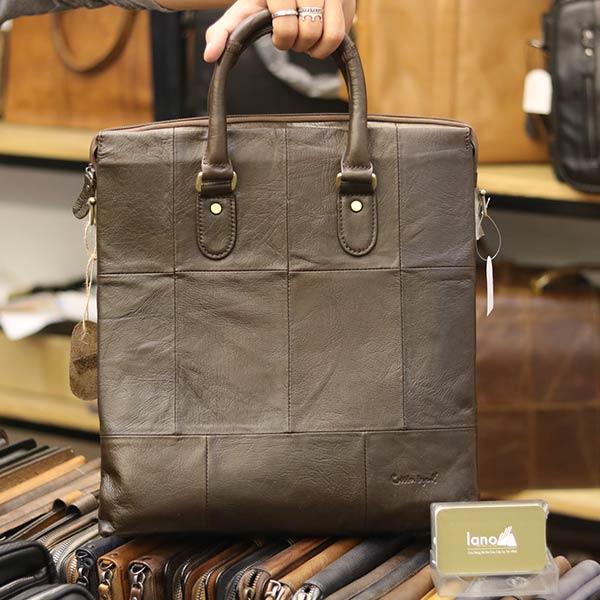 Túi da nam công sở đựng A4 tài liệu thời trang cao cấp Lano KT138