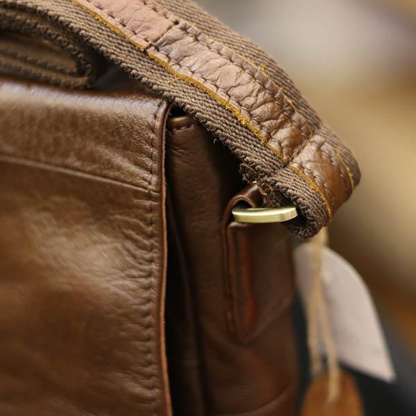 Túi da đeo chéo đựng iPad Lano da bò thật nắp đậy KT136 quai đeo chéo chắn chắn