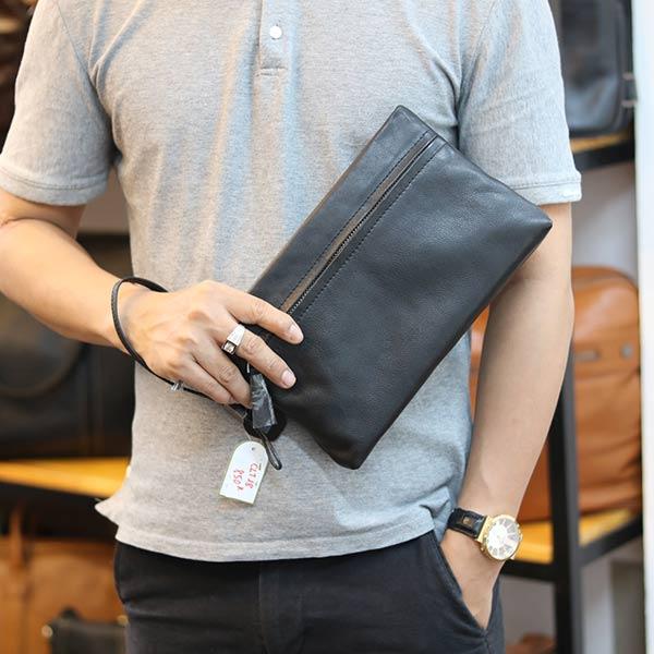 Túi cầm tay nam mini da bò Lano mẫu mới 2019 CLT18